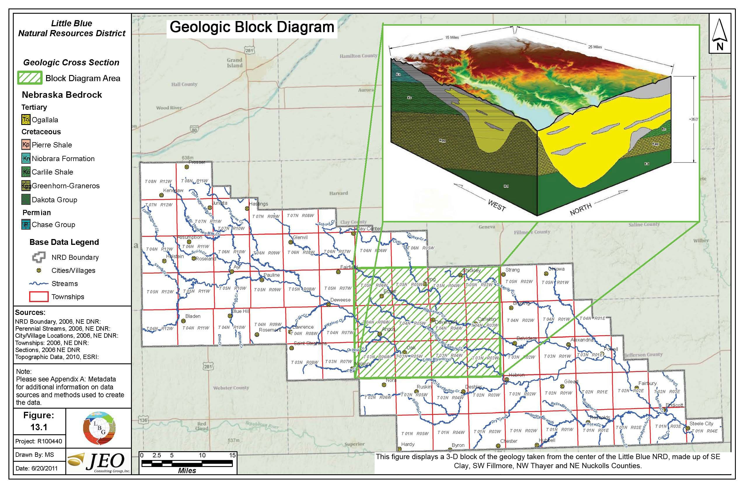 Hydrogeological Study Little Blue Nrd How To Make A Block Diagram Geologic Bedrock Geology