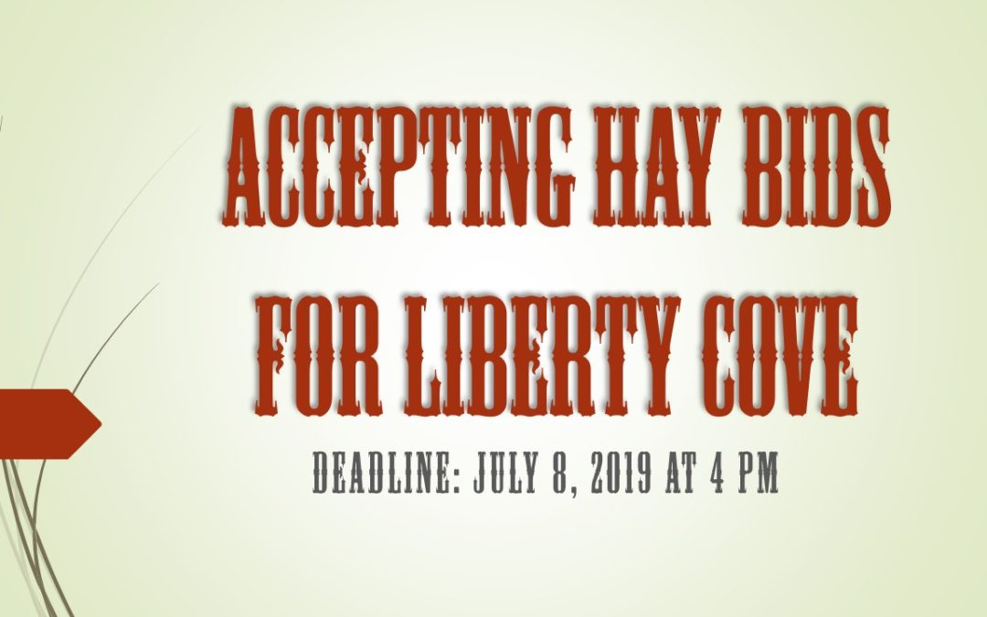 Liberty Cove Hay Bids